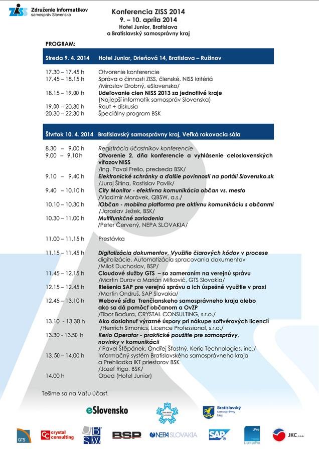pozvánka na ziss Bratislava 2014