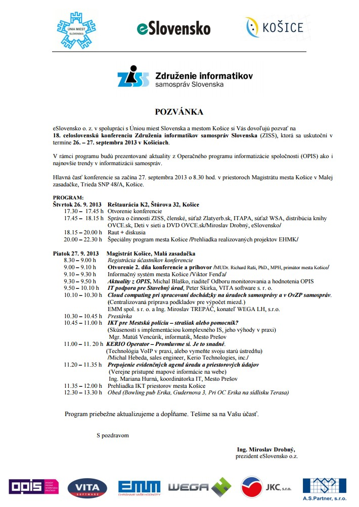 Kosice-program
